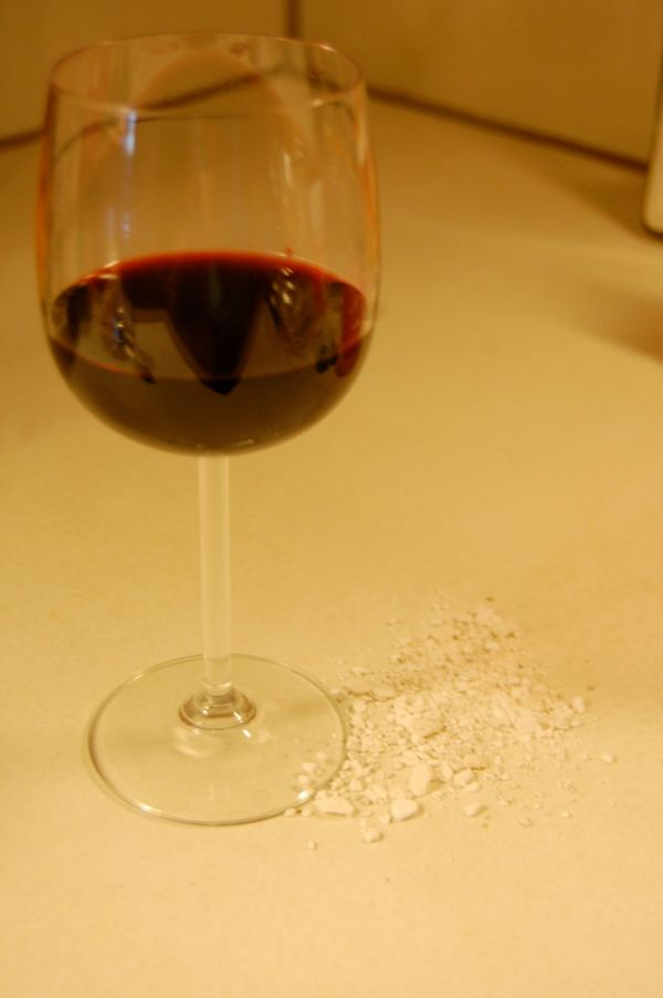 Red wine, meet baking soda.  Baking soda, red wine.