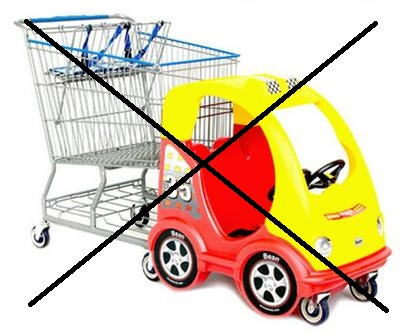 shopping cart race car